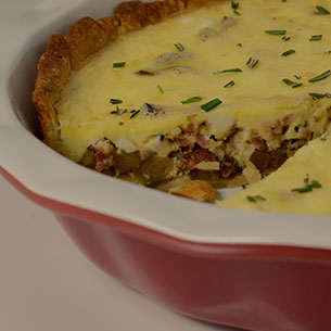 Apple Bacon Goat Cheese Quiche